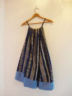 Upcycled Boho Halter Dress/Womens Dress/Simple by RebirthRecycling, $50.00