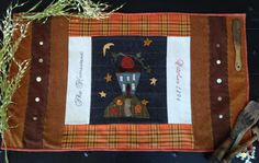 Primitive Folky Wool Autumn Table Runner by 1894CottonwoodHouse, $9.00