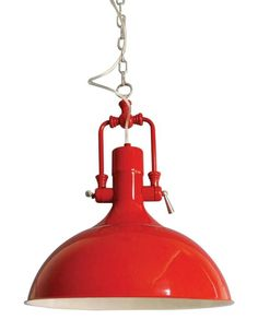 Kitchen Lighting Barn Red Laramie Pendant Barn Red SBK - Red kitchen light fixtures