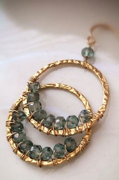 Faceted Green Quartz Inverted Wire Wrapped