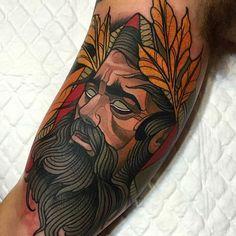 Imagem de referencia para o estilo neotraditional da tatuagem