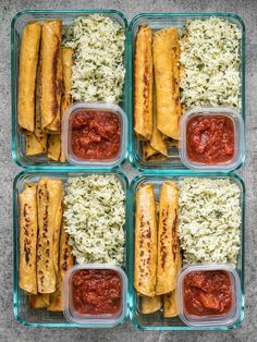 Black Bean Taquito Meal Prep Creamy Black Bean Taquitos pair with tangy Cilantro Lime Rice for a simple and satisfying meal prep. Creamy Black Bean Taquitos pair with tangy Cilantro Lime Rice for a simple and satisfying meal prep. Healthy Lunches For Work, Prepped Lunches, Health Lunches, Easy Healthy Lunch Ideas, Bag Lunches, Simple Healthy Meals, Snacks For Work, Healthy Chicken, Health Meals