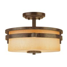 For the hallway, or it might work in the entry way as well. Great price - $69.95. I pinned this, Prairie Semi Flush Light, from the Lighting Finds Under 100 event at Joss and Main!