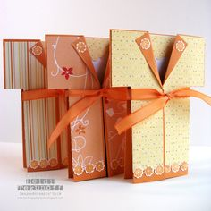 handmade kimono cards from Two Happy Stampers: Another Fancy Fold share ...