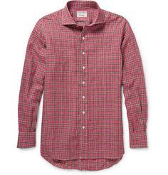 Drake's Check Linen Shirt | MR PORTER