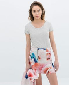 Zara Printed Skirt With Zip And Lining on shopstyle.com