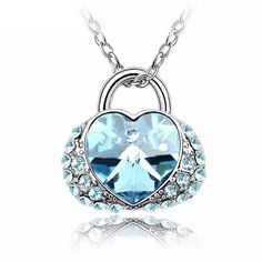 Candy Heart Pendant Necklace With Genuine Crystals from SWAROVSKI Element