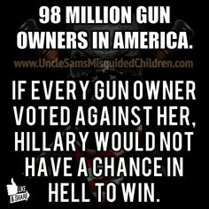ESSENTIALLY, CROOKED HILLARY WANTS TO ABOLISH OUR 2ND AMENDMENT. #TRUMP TRAIN