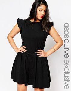 This is a romper, but looks swingy enough to pass as skirt... I love the sleeves.