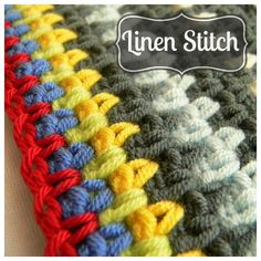 #Crochet #Tutorial - How To Crochet Linen Stitch. A nicely firm stitch for pieces that need body such as dishcloths, mats, rugs and baskets.