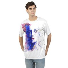 Men's Art Portrait T shirt Custom Tees, Printed Tees, Classic Looks, Slacks, Mens Tees, Casual Looks, Men Fashion, Crew Neck, Dress Up