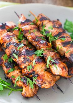 Incredibly delicious Beer and Honey BBQ Chicken Skewers that are perfect for a weekend or even a busy week night. Just prepare the night before, let them marinate overnight and grill when ready. #chickenskewers