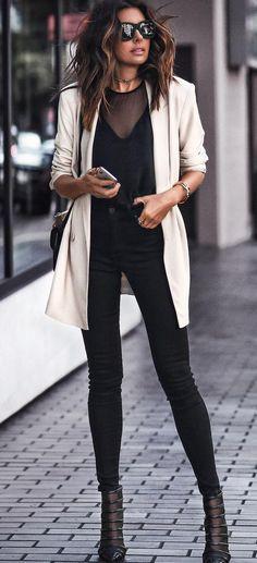 white oversized blazer