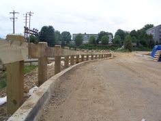 Wooden Guiderail, Pressure Treated, One Rail