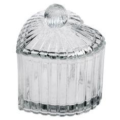 Glass Heart Trinket Pot   DotComGiftShop