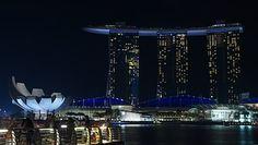 Singapur, Nacht, Marina, Asien, Hotel