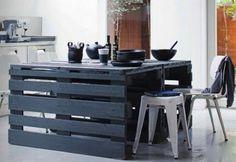Pallet Wood Kitchen Island