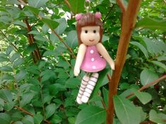 Cold porcelain keychain doll...by: Miriam. Rivera...