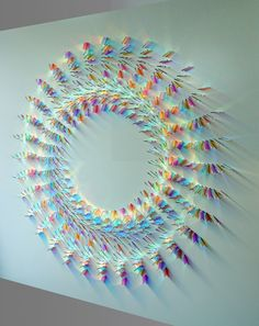 Beautiful design made with small chips of colored glass.