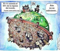 The combined wealth of the richest 1 percent will overtake that of the other 99 percent of people next year unless the current trend of rising inequality is checked, Oxfam warned today ahead of the annual World Economic Forum meeting in Davos. Political Art, Political Cartoons, Dobby Harry Potter, Thing 1, How To Get Rich, Embedded Image Permalink, Mother Earth, Wealth, Just In Case