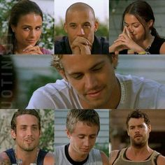 Paul Walker and cast FF