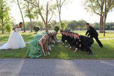 "My wedding ""Football pose"""