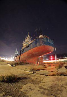 東日本大震災 気仙沼 Japan Earthquake, Korean War, Shipwreck, Tsunami, Natural Disasters, Scrap, History, World, Places