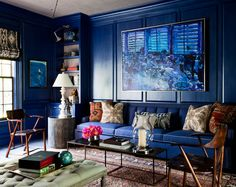 The Most Beautiful Blue Living Rooms
