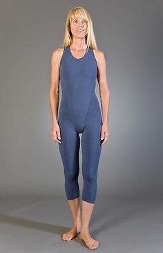 Marie Wright : Capri Length Cross Strap Yoga Unitard