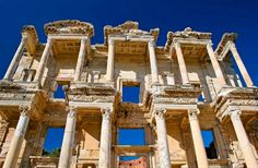 Ephesus is located in the Izmir Province of Turkey and is one of the best-preserved ancient sites in the world.