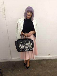 kelly Osbourne customised Hermes Birkin Bag