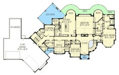 European Mansion with Optional Sports Court - 290002IY | Architectural Designs - House Plans
