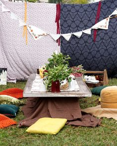 Goldilocks/woodland tea party
