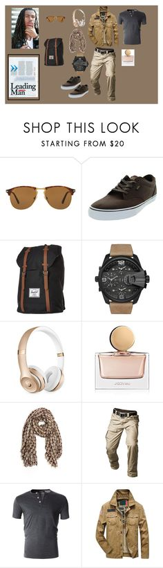 """""""LEADING MAN"""" by destinystarheaven on Polyvore featuring Persol, Vans, Herschel Supply Co., Issa, Diesel, Beats by Dr. Dre, Jason Wu, Pin1876, men's fashion and menswear"""