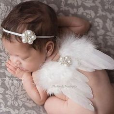 Dependable Cute Newborn Pink Angel Feather Wings&headband Costume Photo Prop Outfit For Gift Boys Costume Accessories