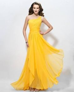 6b602519994 Ericdress One Shoulder A-Line Applique Long Prom Dress (US 24W) Evening  Dresses