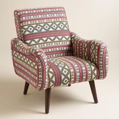 One of my favorite discoveries at WorldMarket.com: Jacquard Print Upholstered Neyla Armchair