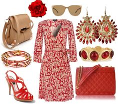 """""""Red & Camel"""" by theapatricia on Polyvore"""