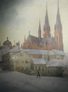 Ernst Nilsson (1892-1937): Domkyrkan Gamla torget
