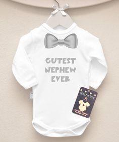 Cutest Nephew Ever Baby Bodysuit. Aunt Baby by LittlePrincessTara