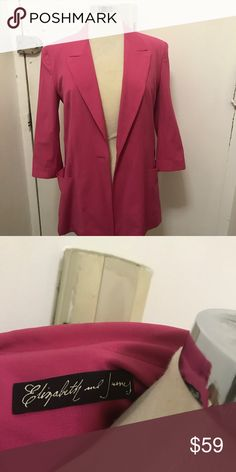 Elizabeth and James blazer Size medium. Good Preowned condition. Open to sensible offers. Low balls will not be entertained. Thanks for looking. Elizabeth and James Jackets & Coats Blazers