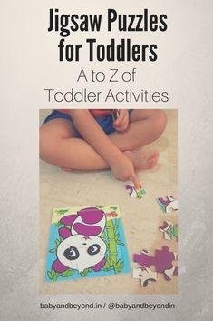 Jigsaw puzzles for toddlers help develop fine motor skills, cognitive skills, problem solving and patience. Which puzzles should you choose and how to play with your toddler? #toddleractivities #toddlertoys #learningthroughplay #learningtoys