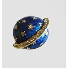 Butler Wilson Celestial Brooch, Cobalt Blue Enamel, Hand Set Crystal... (€70) ❤ liked on Polyvore featuring jewelry, brooches, pin brooch, pin jewelry, crystal stone jewelry, cobalt blue jewelry and enamel brooches