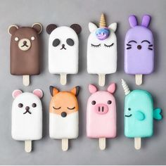 Anime Popsicles baking backen mitbringsel Best Picture For Polymer Clay Crafts For Your Taste You are looking for something, and it is going to tell you exactly what you are looking for, Polymer Clay Kawaii, Polymer Clay Charms, Biscuit, Magnum Paleta, Kreative Desserts, Cute Baking, Rainbow Food, Cute Clay, Aesthetic Food