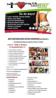 cellReset - Info Session 16 August 2016 - Best Metabolism / Detox Program worldwide!