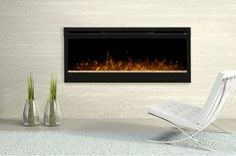 Bring the luxury and modern comfort to your entertainment corner with the addition of this Dimplex Linear Wall-Mount Electric Fireplace in Black. Mounted Fireplace, Freestanding Fireplace, Fireplace Wall, Fireplace Surrounds, Fireplace Design, Fireplace Ideas, Contemporary Electric Fireplace, Modern Electric Fireplace, Wall Mount Electric Fireplace