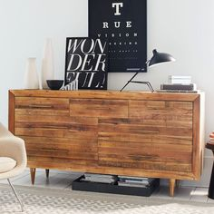 A sustainable storage piece. Crafted from reclaimed pine, our Alexa Storage 7-Drawer Dresser imparts sophistication to naturalist style with its gently tapered legs and brass-finished pulls.