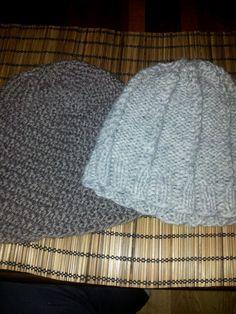 De to siste luene jeg har strikket.
