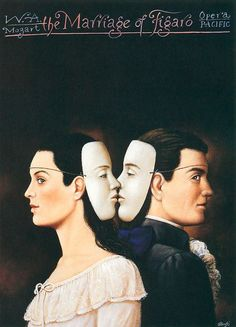 Marriage of Figaro by Wolfgang Amadeus Mozart, Opera Pacific, city of Santa Ana ,California. Poster by Rafal Olbinski Wassily Kandinsky, Pop Art, Polish Posters, Art Posters, Kunst Online, School Of Visual Arts, Rene Magritte, Oscar Wilde, Shows