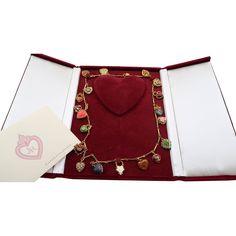 Joan Rivers 19 Charm Hearts & Flowers Necklace Certif in Box